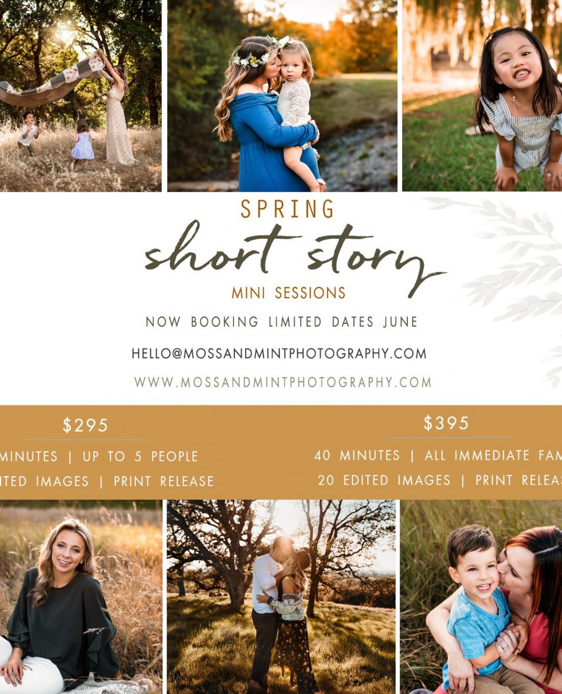 Spring 2020 mini sessions outdoor photos